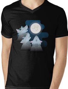 Three Wolf Moon Moon Mens V-Neck T-Shirt