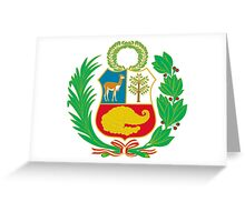 Lesser Coat of Arms of Peru Greeting Card