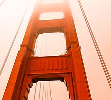 Golden gate  Bridge in the fog by mark bilham