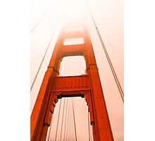Golden gate  Bridge in the fog Photographic Print