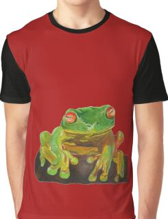 Cute Red Eyed Tree Frog Graphic T-Shirt