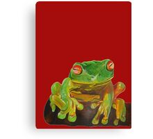 Cute Red Eyed Tree Frog Canvas Print