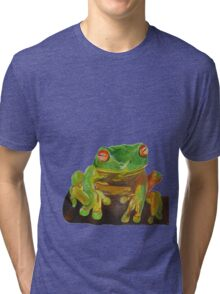 Cute Red Eyed Tree Frog Tri-blend T-Shirt