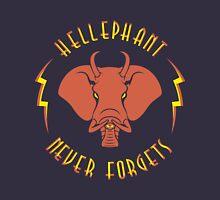 Hellephant - Pyrokinetic Red on Dark Blue Unisex T-Shirt