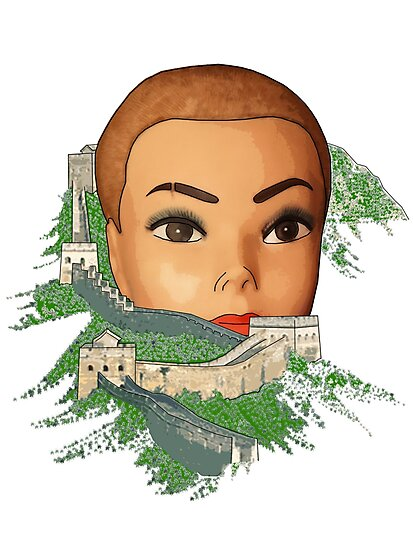 great head of china by IanByfordArt