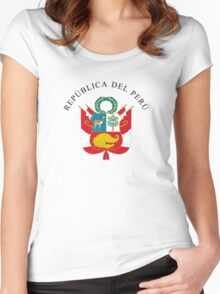 Great Seal of Peru Women's Fitted Scoop T-Shirt