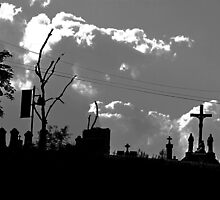 Religious Silhouettes (black and white) by Nevermind the Camera Photography