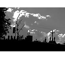 Religious Silhouettes (black and white) Photographic Print