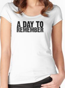 A Day To Remember - Black Women's Fitted Scoop T-Shirt