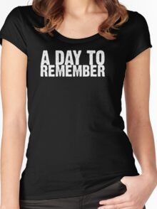 A Day To Remember - White Women's Fitted Scoop T-Shirt