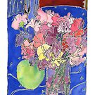Still Life with Sweet Peas by TangerineMeg