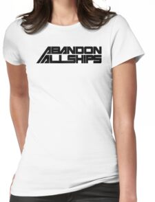 Abandon All Ships Womens Fitted T-Shirt