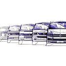 VW Bus Evolution by Sharon Poulton