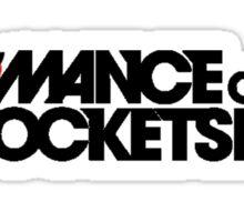 Romance on a Rocket Ship Sticker