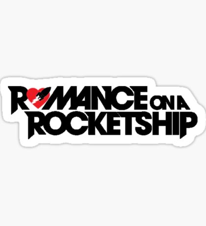 Romance on a Rocket Ship Sticker