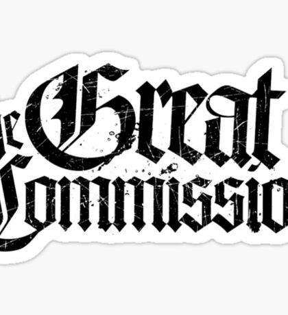 The Great Commision Sticker