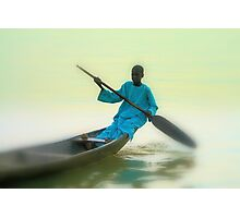 Returning from all night fisihing. River Niger-Nigeria. Photographic Print