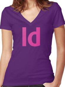 Adobe In Design Women's Fitted V-Neck T-Shirt