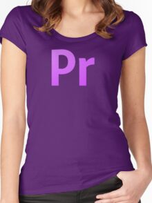 Adobe Premier  Women's Fitted Scoop T-Shirt