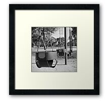 Swing Baskets Framed Print