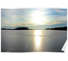 Herrestadsjön in winter season Poster