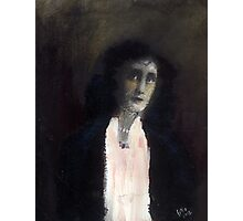 Girl with white scarf Photographic Print