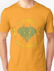 Hellephant - Maulive Green on Gold T-Shirt
