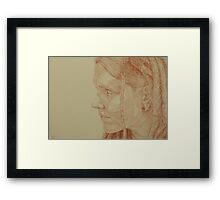Tam Sketch Framed Print