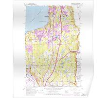 USGS Topo Map Washington State WA Poverty Bay 243266 1961 24000 Poster