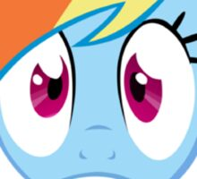 Rainbow Dash Afraid of bronies.  Sticker