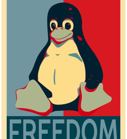 Tux Freedom for Linux Users Sticker