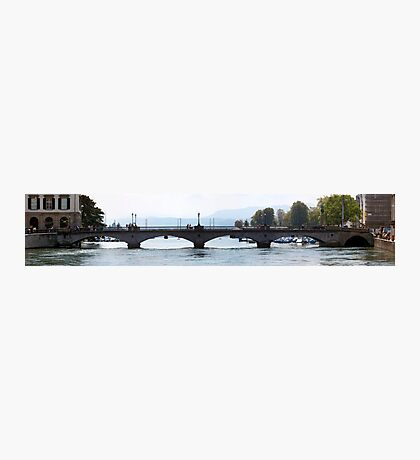 Münsterbrücke Bridge Panorama, CH Photographic Print