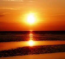 SUNSET WADDEN SEA by Johan  Nijenhuis