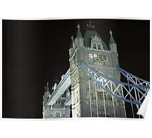 London Bridge illuminated at night Poster