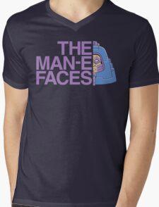 The Man-e-Faces Mens V-Neck T-Shirt