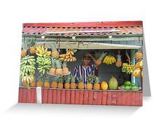 Fruit stall. Greeting Card