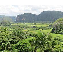 Vinales valley landscape. Photographic Print
