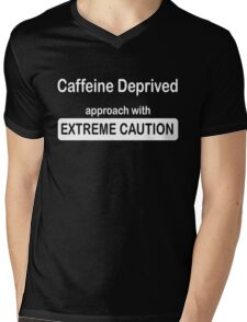 funny coffee addicts design ~ extreme caution Mens V-Neck T-Shirt