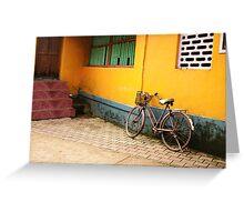 STREET OF GOKARNA Greeting Card