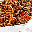 Dried vegetables by Naomi Brooks