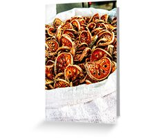 Dried vegetables Greeting Card