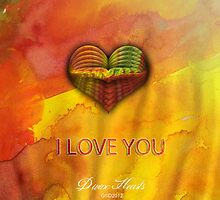 Multicolor Heart by GUADALUPE  DIVINA