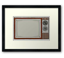 Retro T.V Set Framed Print