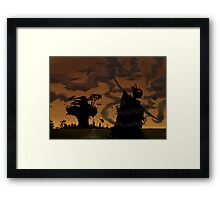 Welcome to the world of the plastic beach Framed Print