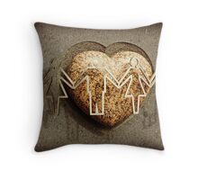 Love makes the world go round Throw Pillow