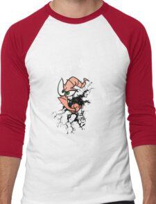 Earthworm jim...EAT DIRT!! Men's Baseball ¾ T-Shirt