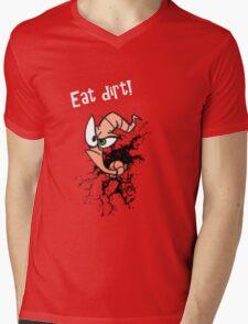Earthworm jim...EAT DIRT!! Mens V-Neck T-Shirt