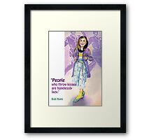 'People who throw kisses are hopelessly lazy.' Framed Print