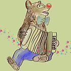 Bear with Harmony, green by RagAragno