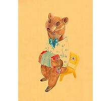 Bear with Charming Harmony Photographic Print